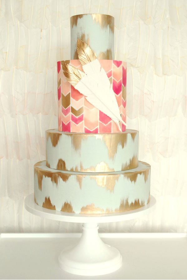 Our Favorite Hand-Painted Wedding Cakes | Weddings Illustrated
