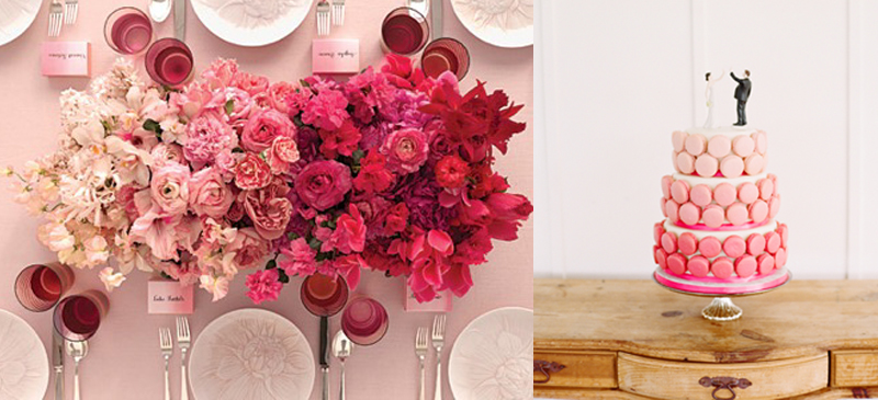 Inspiration Board: Ombré   Weddings Illustrated